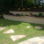 Stepping Stones, Retaining Wall, and Landscaping