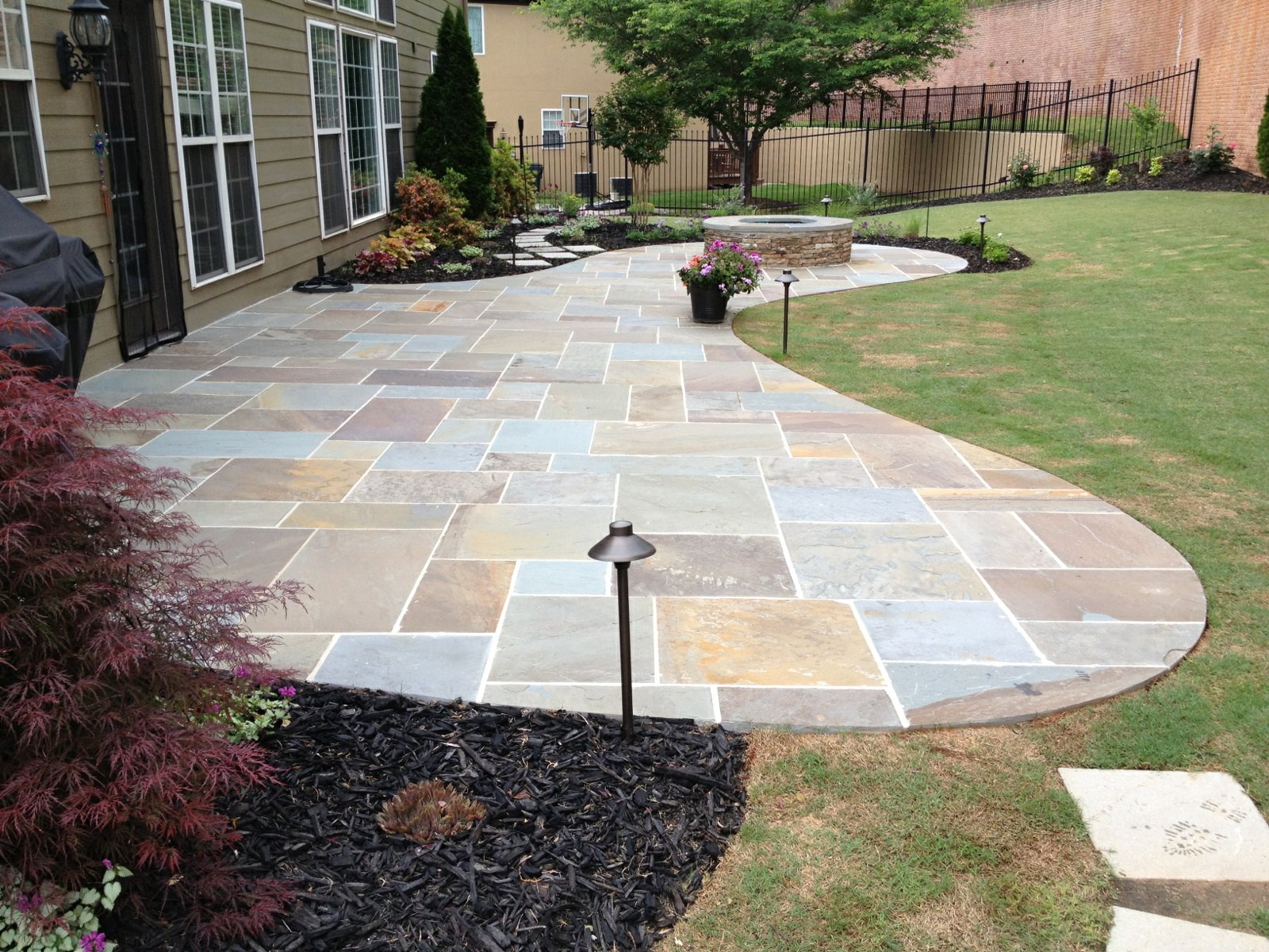 Patio With Square Stone